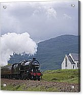 The Jacobite Express At Lochailort Church Acrylic Print