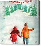 The Joy Of Selecting A Christmas Tree Acrylic Print by Sharon Mick