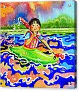 The Kayak Racer 12 Acrylic Print