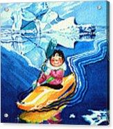 The Kayak Racer 13 Acrylic Print by Hanne Lore Koehler