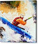 The Kayak Racer 17 Acrylic Print by Hanne Lore Koehler
