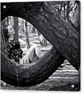 The Lady Of The Dancing Trees Acrylic Print