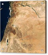 The Lands Of Israel Along The Eastern Acrylic Print by Stocktrek Images