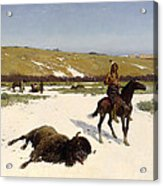 The Last Of The Herd Acrylic Print by Henry Francois Farny