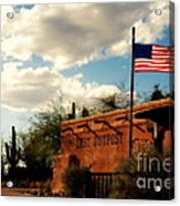 The Last Outpost Old Tuscon Arizona Acrylic Print