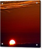 The Last Summer Sunset Acrylic Print