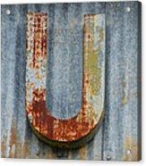 The Letter U Acrylic Print