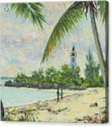 The Lighthouse - Zanzibar Acrylic Print