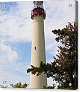 The Lighthouse At Cape May New Jersey Acrylic Print by Bill Cannon