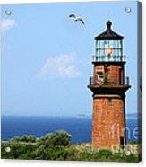 The Lighthouse On Martha's Vineyard Acrylic Print