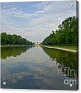 The Lincoln Memorial And Reflecting Pool Acrylic Print