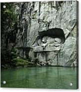 The Lion Monument In Lucerne Honouring The Swiss Soldiers Killed During French Revolution Acrylic Print