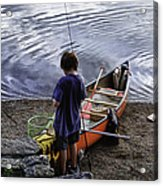 The Little Fisherman Acrylic Print