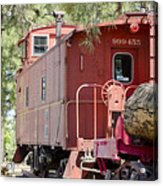 The Little Red Caboose Acrylic Print