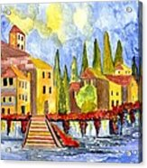 The Little Village Acrylic Print by Connie Valasco
