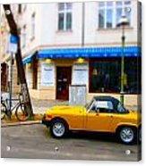 The Little Yellow Car Acrylic Print
