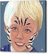The Littlest Zebra Acrylic Print