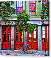 The Locked Bicycle - New Orleans Acrylic Print