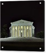 The Lonely Tourist At Jefferson Memorial Acrylic Print by Metro DC Photography
