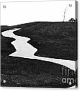 The Long And Winding Road Bw Acrylic Print