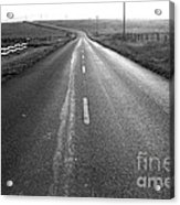 The Long Road Home . 7d9903 . Black And White Acrylic Print