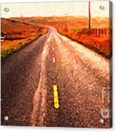 The Long Road Home . Painterly Style . Wide Size Acrylic Print