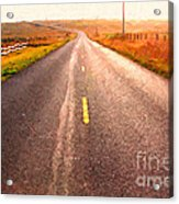 The Long Road Home . Painterly Style Acrylic Print
