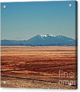 The Long Road To The Meteor Crater In Az Acrylic Print