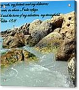 The Lord Is My Rock Acrylic Print