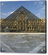 The Louvre Pyramid Paris Acrylic Print