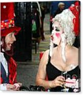 The Mad Hatter And The Red Queen Acrylic Print