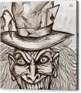 The Mad Hatter Acrylic Print by Michael Mestas