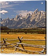 The Majestic Tetons Acrylic Print