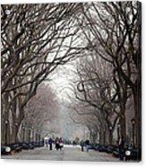 The Mall Central Park Acrylic Print