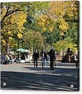 The Mall In Central Park Acrylic Print
