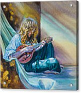 The Mandolin Player Acrylic Print by Gilly Marklew