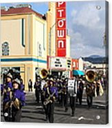 The Marching Band At The Uptown Theater In Napa California . 7d8925 Acrylic Print