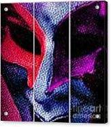 The Masks We Hide Behind Tryptic Print Acrylic Print
