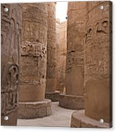 The Massive Columns In The Hypostyle Acrylic Print