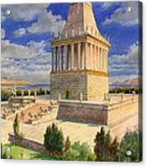 The Mausoleum At Halicarnassus Acrylic Print by English School