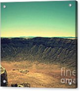 The Meteor Crater In Az 4 Acrylic Print