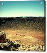 The Meteor Crater In Az Acrylic Print