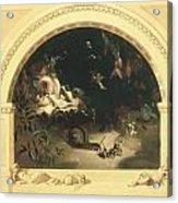 The Midsummer Night's Fairies Acrylic Print by Robert Huskisson