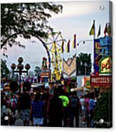 The Midway Lights Up Acrylic Print