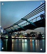 The Millennium Bridge Acrylic Print