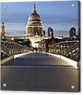 The Millennium Bridge Looking North Acrylic Print
