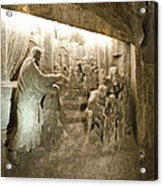 The Miracle At Cana In Galilee - Wieliczka Salt Mine Acrylic Print