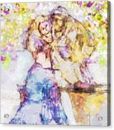 The Monk And The Maiden Acrylic Print by Jill Balsam