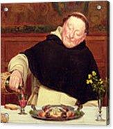 The Monk's Repast Acrylic Print