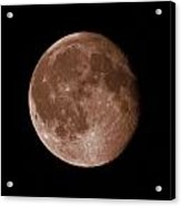The Moon In Sepia Acrylic Print